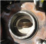Inspect rear hub walls for wear